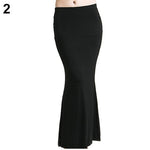 arrivalFshion Women's Long Solid Maxi Skirt Candy Color Jersey Flared Summer Casualmodkily-modkily