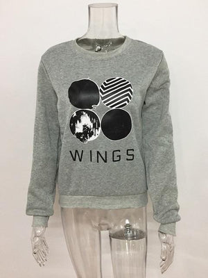 BTS Kpop Sweatshirt Women Korean Popual Bangtan Boys Autumn Winter BTS Womenmodkily-modkily