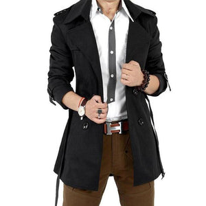 2016 Autumn Trench Coat Men Double Breasted Trench Coat Men Outerwear Casualmodkily-modkily