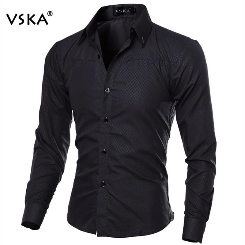 Hot Sale Fashion Men Long Sleeve Shirt Men Elegant Style Slim Fitmodkily-modkily