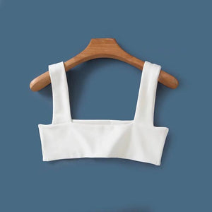 Women Sexy Square Neck Line Crop Tops Strappy Cami Crop Topmodkily-modkily