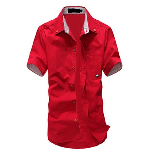 IMC 2016 Hot Selling Fashion mens shirt summer short-sleeve slim shirt casualmodkily-modkily