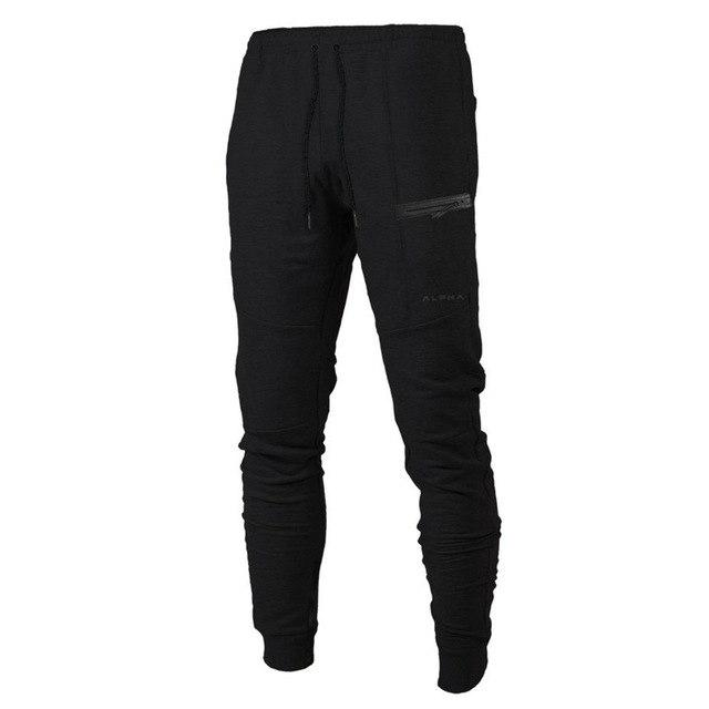 Mens Autumn Winter cotton Sweatpants gyms Fitness bodybuilding trousers male solid Sportswearmodkily-modkily