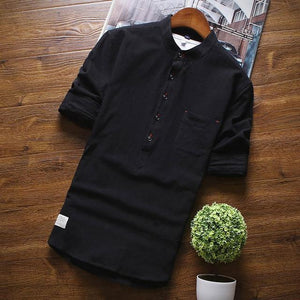 New Arrival Men's Shirts Fashion Summer Half Sleeve Shirts For Men Cottonmodkily-modkily