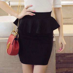 Women Skirts Multi Color OL Lotus Leaf Slim Stretch High Waist Packmodkily-modkily