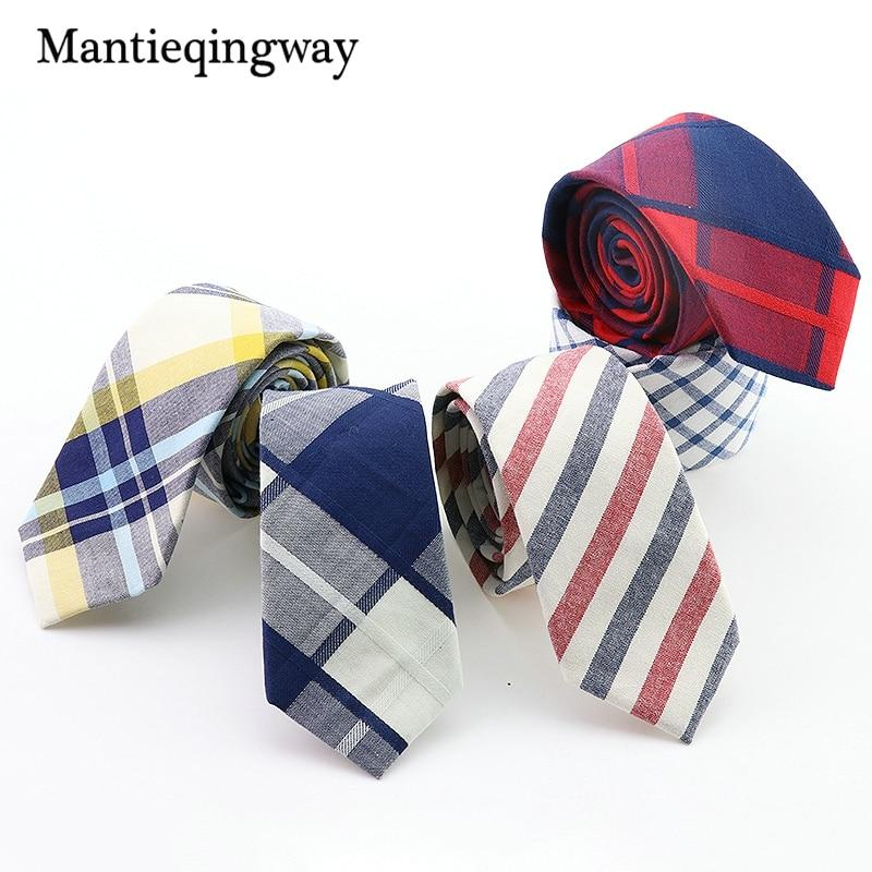 Fashion Men Ties New Plaid and Striped Men Skinny Necktie Corbatasmodkily-modkily