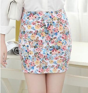 Flower Floral Printed Women Skirt Spring Summer Girl Printing Short Skirtsmodkily-modkily