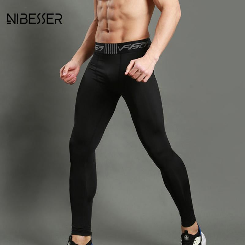Tight Fitness Pants Men Elastic Leggings Fitness Compression Pants Sweatpants Bodybuildingmodkily-modkily