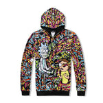 New Unisex Rick and Morty 3D Print Hoodies mens Anime Sweatshirt Withmodkily-modkily