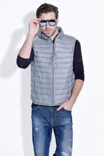 2017 hot Winter duck down vest men Ultra Light 90% Duck Downmodkily-modkily