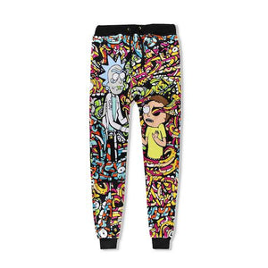 New Unisex Rick and Morty 3D Print Loose Pants Mens Cool Streetmodkily-modkily