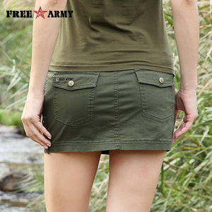 New Sexy Mini Skirt For Women Summer Military Fashion Mid Waist Armymodkily-modkily