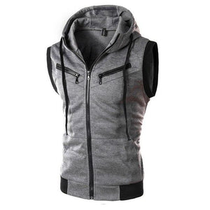 2017 New Arrival brand clothing fashion mens hooded summer cotton bikermodkily-modkily