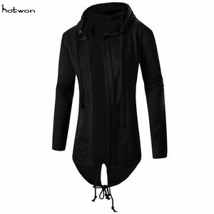 New Hot Sale Men hooded jacket long cardigan black ninja goth gothicmodkily-modkily