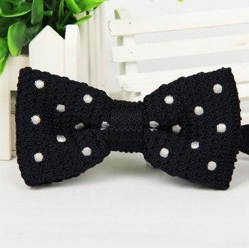 New Men Knitted Bowtie Bow Tie Pre-Tied Adjustable Tuxedo dots Bow tiesmodkily-modkily