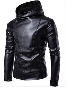 ZHUOFEI PU Faux Leather Jacket Men Biker Jacket Leather Jacket Male Motorcyclemodkily-modkily