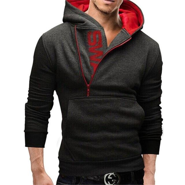 Assassins Creed Hoodies Men Letter Print Male Hoodie Sweatshirt Slim tracksuit Zippermodkily-modkily