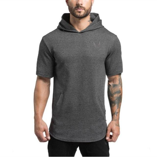 2017 Brand Mens Short Hoodies Fashion pullover leisure coat gyms Fitness bodybuildingmodkily-modkily