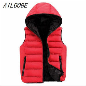 2017 Autumn Men's Hooded Thick Vests Women Waistcoats Warm Mens Jacketsmodkily-modkily