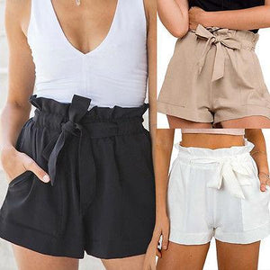 2017NEW Women Clothes Women Sexy Crepe Woven Tie Summer Casual Shortsmodkily-modkily