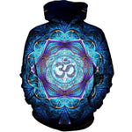 2017 new fashion Cool sweatshirt Hoodies Men women 3D print Blue lotusmodkily-modkily
