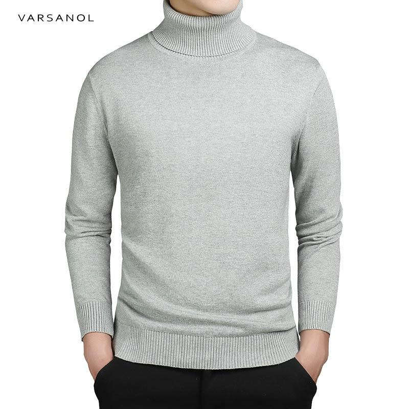 Varsanol Brand New Casual Turtleneck Sweater Men Pullovers Autumn Fashion Style Sweatermodkily-modkily