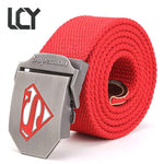 [] New Tactical Belt Superman Canvas Wide Men's Military Belts Army Thickenmodkily-modkily