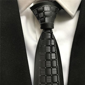 Wholesale Designer Luxury Panel Necktie Fashion Men's Skinny Slim Ties for Partymodkily-modkily