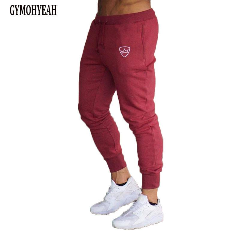 2017 long trousers Red gray Black sweatpants men top quality drawstring clothingmodkily-modkily