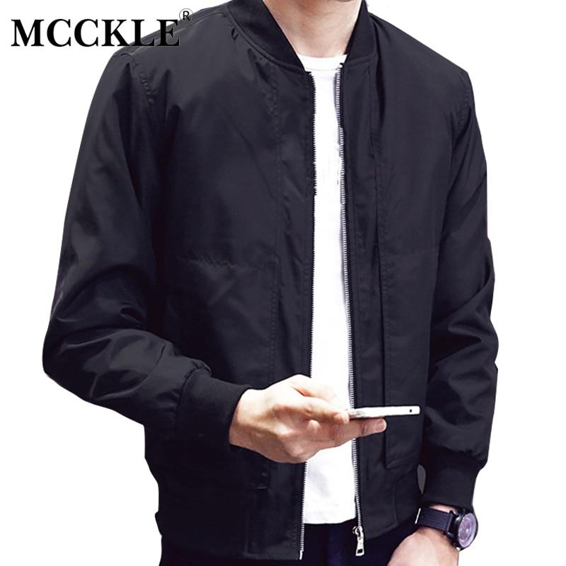 Men 2017 Spring Autumn Slim Fit Baseball Jacket Men's Solid Colormodkily-modkily