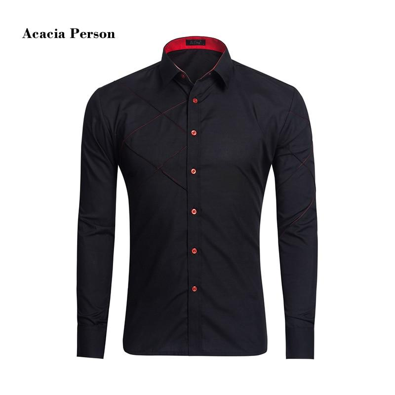 2017 New Slim Fit Casual Men Shirt Classical Solid color Shirt Stylishmodkily-modkily