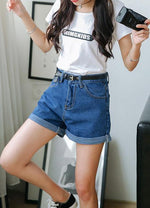 2017 Casual Jean Solid Women Clothing Denim Shorts with Pockets New Arrivalmodkily-modkily