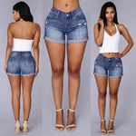 denim shorts Plus Size Casual Skinny Short Pants Retro high waist Womanmodkily-modkily