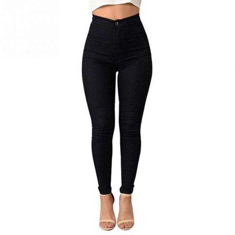 Women Sexy High Ultra-thin Elastic Ankle-length Pants Fashion Girls Pure Color Slimmodkily-modkily