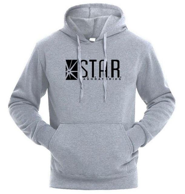 2017 STAR Labs Black Women/Men Hooded Hoodies Male Sweatshirt Jumper The Flashmodkily-modkily