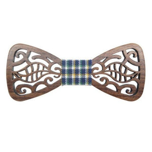 New Fashionable Hollow Wood Bow Ties for Men Wedding Suits Wooden Bowmodkily-modkily