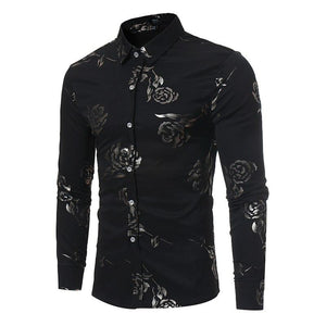 New Floral Print Shirt Men Slim Fit Chemise Homme 2017 Luxury Brandmodkily-modkily