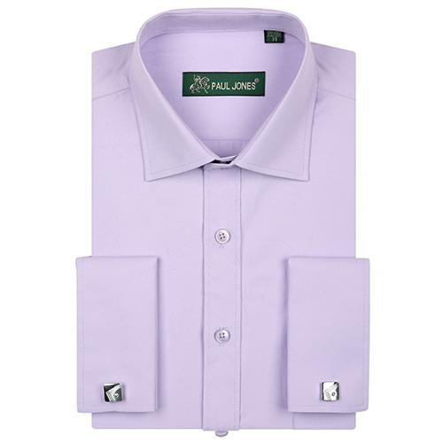 Luxury Men's French Cuffs Dress Shirts with Breast Pocket Long-Sleeve Broadcloth Regular-fitmodkily-modkily
