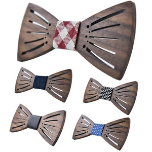2017 New Carving Wooden Bow Tie Accessories Creative Wood Butterfly Mens&Women Tiemodkily-modkily