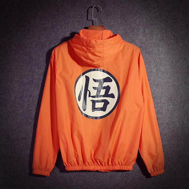 Anime Dragon Ball Thin Sun Protection Hooded Windbreaker Unisex Hip Hop Cosplaymodkily-modkily