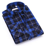Men's Shirt 2018 Spring Autumn New Male Long Sleeve Flannel Plaid Shirtmodkily-modkily