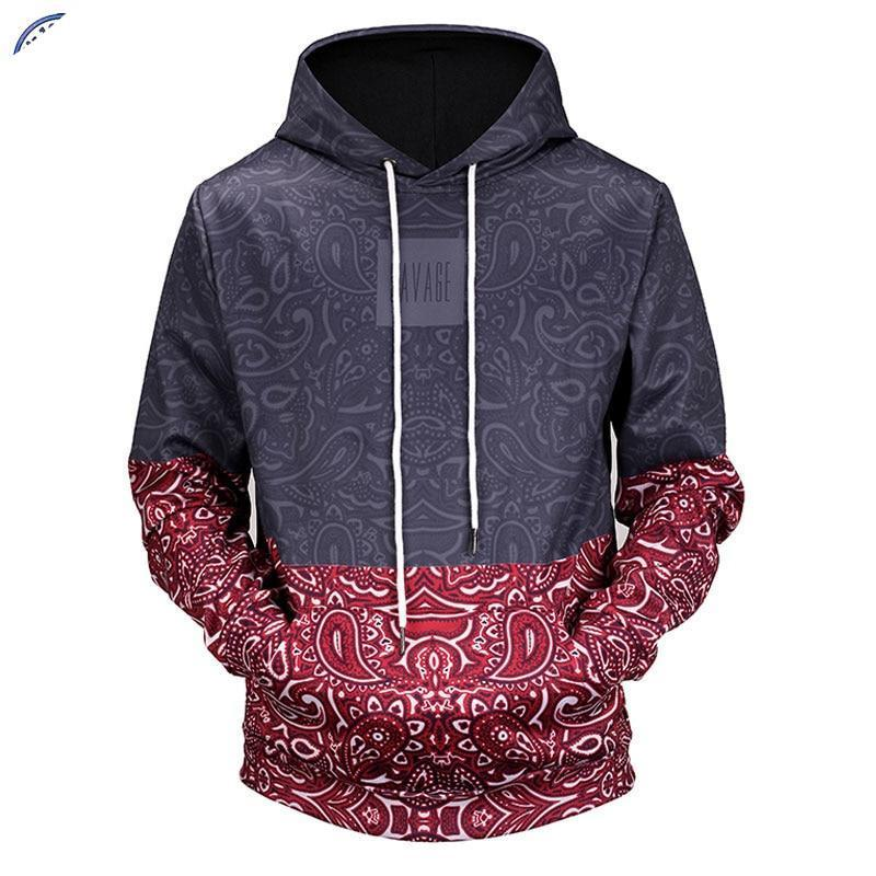 Mr.1991INC New 2018 Paisley Floral Stitching 3D Printed Men/Women Hooded Hoodies Funnymodkily-modkily