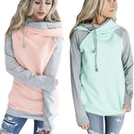 20 Colors kawaii side zipper Hooded hoodies sweatshirt Women Patchwork Warmmodkily-modkily