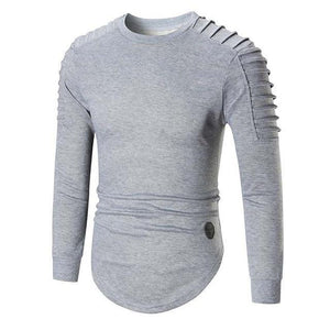 2017 New Style Casual Hoodie Sweatshirt Men Wrinkled Shoulders Cotton Hoodiesmodkily-modkily