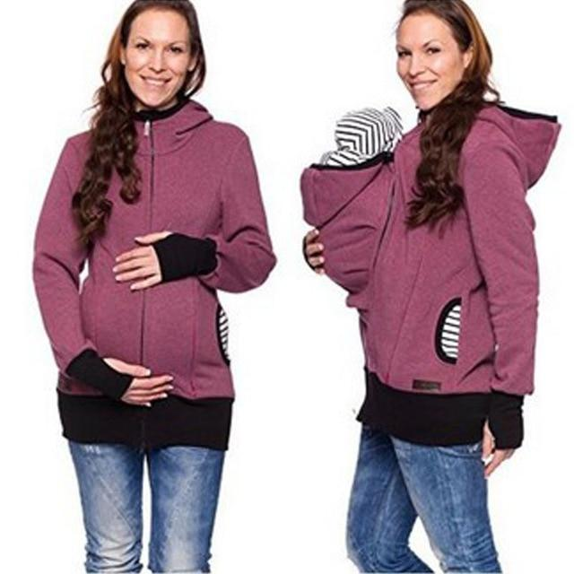 Parenting Child Winter Pregnant Women's Sweatshirts Baby Carrier Wearing Hoodies Maternitymodkily-modkily