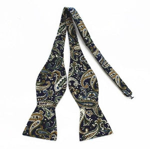 Men's Self Tie Bow Ties 100% Cotton Printed Self Bowtie Vintagemodkily-modkily