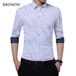 New Arrival Plus Size Mens Formal Shirts Meteor Print Long Sleevemodkily-modkily