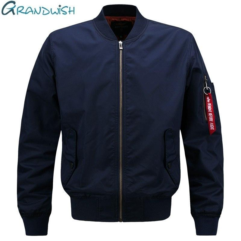 2018 Spring Pilot Bomber Jacket Men Patch Design Men Bomber Flightmodkily-modkily