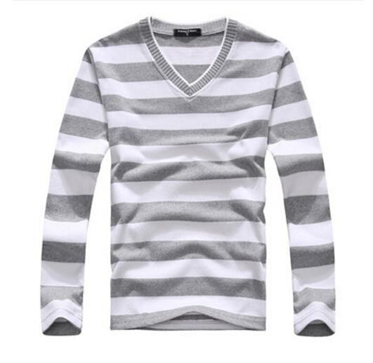 EAS New arrival 2016 men's long-sleeved cotton stripes sweater fashion and hotmodkily-modkily