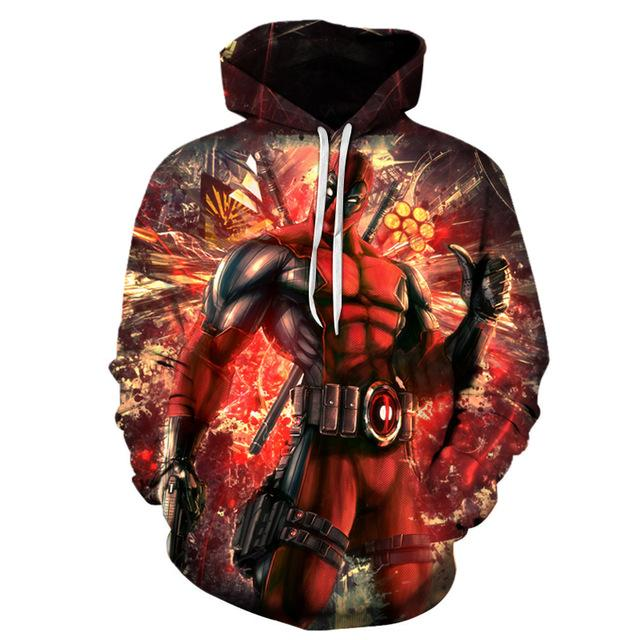 Deadpool Hoodies Funny 3D Hoodie Movie Tracksuits Men Women Sweatshirts Brand Hoodedmodkily-modkily